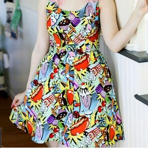 FOLTER BY MODCLOTH SNACK ATTACK DRESS SZ M